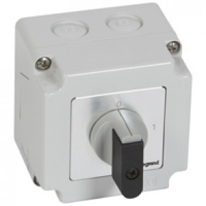 Cam switch - on/off switch - PR 12 - 4P - 16 A - 4 contacts - box 76x76 mm