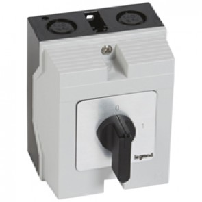 Cam switch - on/off switch - PR 17 - 4P - 20 A - 4 contacts - box 96x120 mm