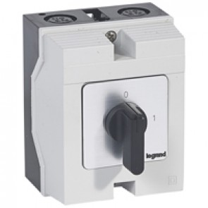 Cam switch - on/off switch - PR 21 - 4P - 25 A - 4 contacts - box 96x120 mm