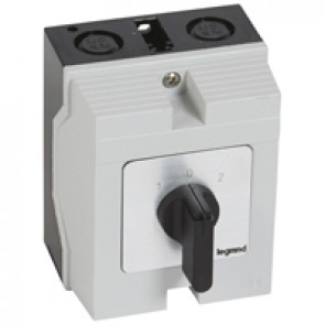 Cam switch - changeover switch with off - PR 12 - 2P - 16 A - box 96x120 mm