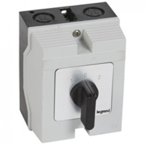 Cam switch - changeover switch with off - PR 17 - 2P - 20 A - box 96x120 mm