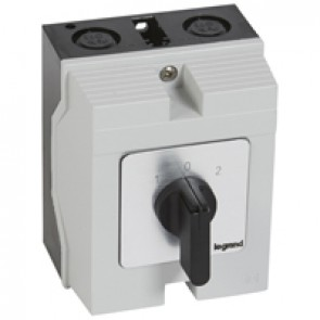 Cam switch - changeover switch with off - PR 17 - 3P - 20 A - box 96x120 mm
