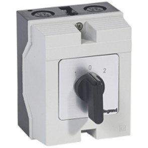 Cam switch - changeover switch with off - PR 26 - 2P - 32 A - box 96x120 mm