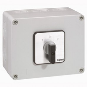 Cam switch - changeover switch with off - PR 40 - 2P - 50 A - box 135x170 mm