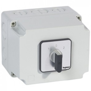 Cam switch - changeover switch with off - PR 40 - 3P - 50 A - box 135x170 mm