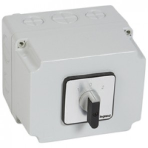Cam switch - changeover switch with off - PR 40 - 4P - 50 A - box 135x170 mm