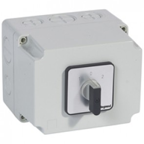 Cam switch - changeover switch with off - PR 63 - 3P - 63 A - box 135x170 mm