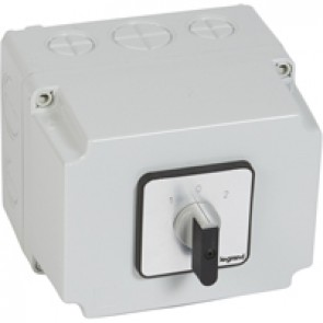 Cam switch - changeover switch with off - PR 63 - 4P - 63 A - box 135x170 mm