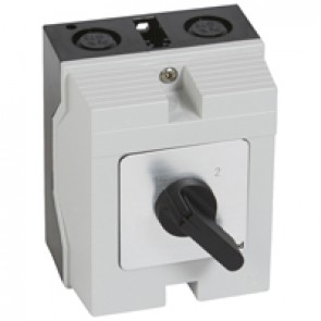 Cam switch - changeover switch without off - PR 12 - 3P - 16 A - box 96x120 mm