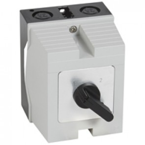 Cam switch - changeover switch without off - PR 17 - 4P - 20 A - box 96x120 mm