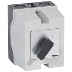 Cam switch - changeover switch without off - PR 21 - 4P - 25 A - box 96x120 mm