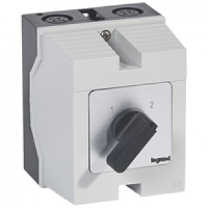 Cam switch - changeover switch without off - PR 26 - 4P - 32 A - box 96x120 mm