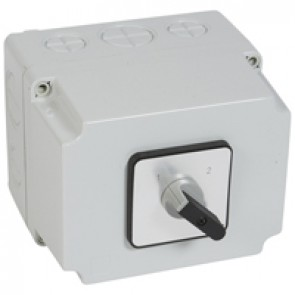 Cam switch - changeover switch without off - PR 40 - 4P - 50 A - box 135x170 mm