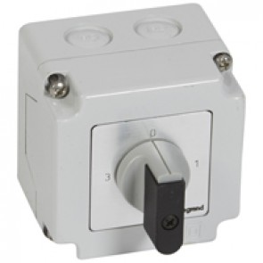Cam switch - 3-way switch with off - PR 12 - 1P - 16 A - box 76x76 mm