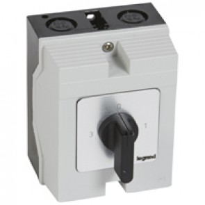 Cam switch - 3-way switch with off - PR 12 - 1P - 16 A - box 96x120 mm