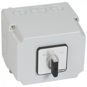 Cam switch - 3-phase motor switch forward/reverse, 1 speed - PR 40 - box