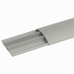 Over floor trunking - 75x18 mm cross section - 3 compartments - lenght 2 m - with cover - grey RAL 7030