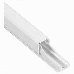 Cable guide - for cable Ø 3 to 6 mm - L. 2.10 m - with adhesive - white