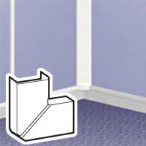 Changeable flat angle - for DLPlus mini-trunking 20x12.5 - white
