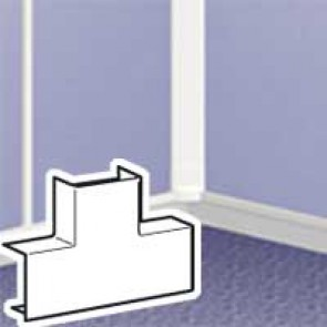 Flat T junction - for DLPlus mini-trunking 20x12.5 - white