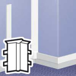 Changeable internal angle - for DLPlus mini-trunking 60x20 - white