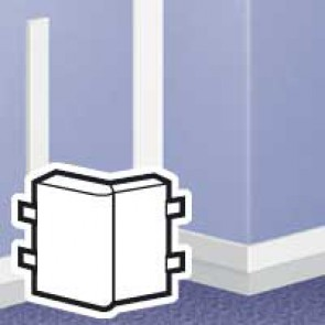 Changeable external angle - for DLPlus mini-trunking 60x20 - white
