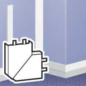 Flat angle - for DLPlus mini-trunking 60x20- white