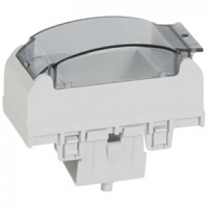 Adaptor for modular wiring accessories - for snap-on trunking - aluminium