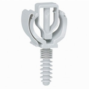 Conduit support with screw-in wall plug - for conduits Ø21