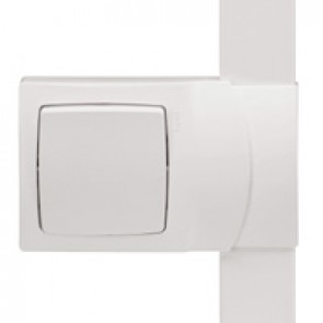 Frame Oteo - for fitting alongside DLPlus mini-trunking h 20 - 1 gang