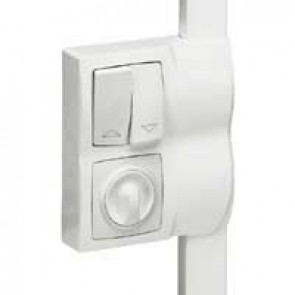 Frame Oteo - for fitting alongside DLPlus mini-trunking h 12.5 - 2 gang