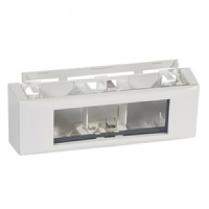 Frame Mosaic - for DLPlus mini-trunking - 6 modules horizontal mounting
