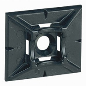Base - for Colring cable ties max. width 4.6 mm - self-adhesive - black