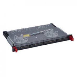 "LCS³ 19"" modular optic drawer - sliding - equipped - 12 SC duplex multimode connectors for 24 fibres"