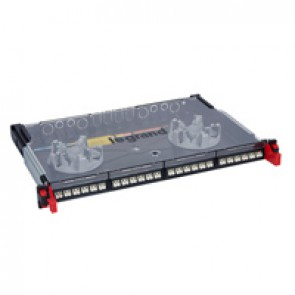 "LCS³ 19"" modular optic drawer - sliding - equipped - 24 LC duplex multimode connectors for 48 fibres"