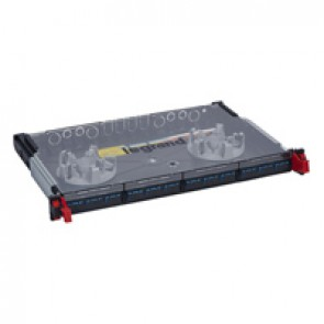 "LCS³ 19"" modular optic drawer - sliding - equipped - 12 SC duplex single-mode connectors for 24 fibres"