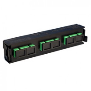 LCS³ fibre optic block - single-mode fibre optic block - SC APC duplex block for 6 single-mode fibre optics