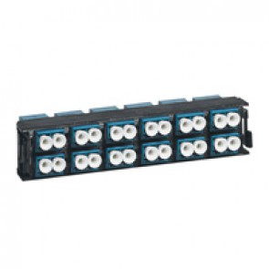 LCS³ fibre optic block - single-mode fibre optic block - LC duplex high density block for 24 single-mode fibre optics