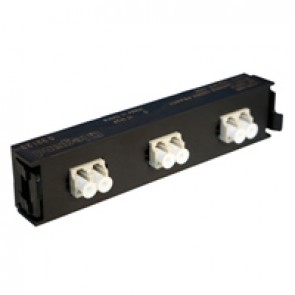 LCS³ fibre optic block - multimode fibre optic block - LC duplex block for 6 multimode fibre optics