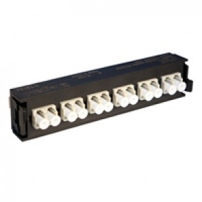 LCS³ fibre optic block - multimode fibre optic block - LC duplex block for 12 multimode fibre optics