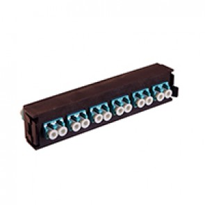 LCS³ fibre optic block - multimode fibre optic block - LC duplex block for 12 multimode fibre optics - aqua