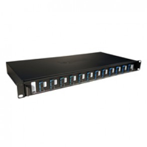 "LCS³ equipped 19"" optic drawer - sliding - 12 SC duplex single-mode connectors for 24 fibres"