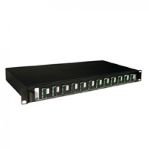 "LCS³ equipped 19"" optic drawer - sliding - 12 SC APC duplex single-mode connectors for 24 fibres"