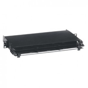 LCS³ Ultra High Density modular fibre optic drawers with cord management for 8-fibre cassettes - 1U