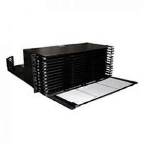 LCS³ Ultra High Density modular fibre optic drawers with cord management for 8-fibre cassettes - 4U