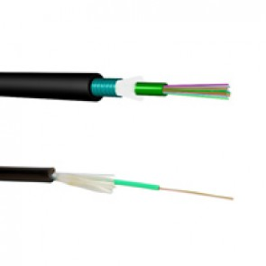 LCS³ OM3 multimode fibre optic cables - loose tube - outdoor - corrugated steel tape - 8 fibres - 2000 m