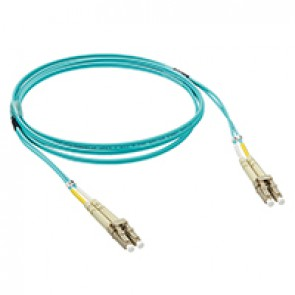 Patch cord fibre optic - OM 3 multimodules (50/125 μm) - LC/LC duplex - 1 m