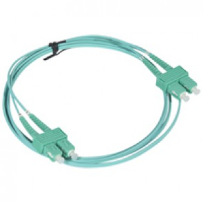 Patch cord fibre optic - OM 4 multimodules (50/125 μm) - SC/SC duplex - 2 m