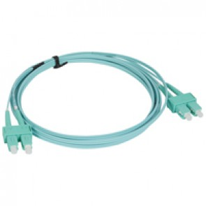 Patch cord fibre optic - OM 4 multimodules (50/125 μm) - SC/SC duplex - 3 m
