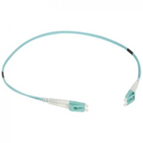 Patch cord fibre optic - OM 4 multimodules (50/125 μm) - LC/LC duplex - 0.5 m